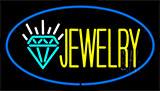 Jewelry Logo Blue Neon Sign