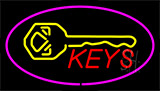 Keys Logo Purple Neon Sign