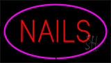 Red Nails Pink Neon Sign