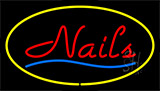 Red Nails Yellow Neon Sign