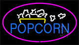 Popcorn Logo Purple Neon Sign