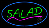 Green Salad With Pink Line Blue Border LED Neon Sign