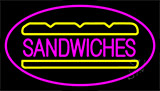 Sandwiches Pink Border LED Neon Sign