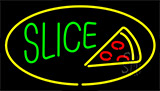 Green Slice Logo Yellow LED Neon Sign
