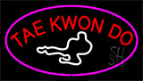 Tae Kwon Do Logo Purple Neon Sign