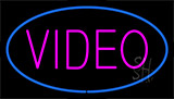 Purple Video Blue LED Neon Sign