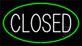 Closed Green Neon Sign