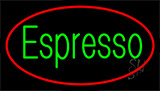 Green Espresso Red Border Neon Sign