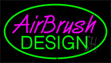 Airbrush Design Green Neon Sign