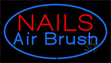 Nails Airbrush Blue Neon Sign