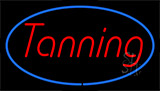 Tanning Blue Border Neon Sign