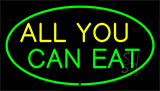 All You Can Eat Green LED Neon Sign