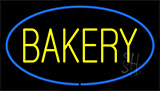 Yellow Bakery Blue LED Neon Sign
