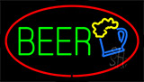 Beer Logo Red LED Neon Sign