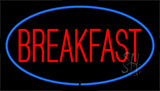 Breakfast With Blue Border LED Neon Sign