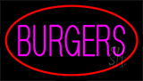 Pink Burgers Red LED Neon Sign