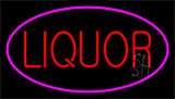 Red Liquor Pink Border Neon Sign