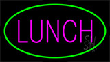 Pink Lunch Green LED Neon Sign