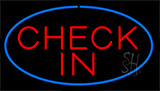 Check In Blue LED Neon Sign