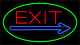Exit Green Neon Sign