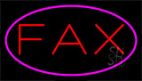 Fax Pink Border Neon Sign