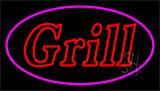 Double Stroke Grill Pink LED Neon Sign