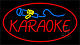 Karaoke Logo Red LED Neon Sign