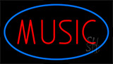 Red Music Blue Neon Sign