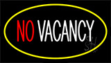 No Vacancy Yellow LED Neon Sign