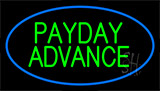 Green Payday Advance Blue Border Neon Sign