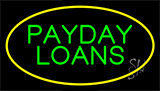 Green Payday Loans Yellow Neon Sign