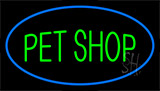 Pet Shop Blue LED Neon Sign