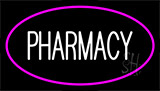 White Pharmacy Pink Border Neon Sign