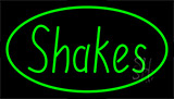 Shakes Green LED Neon Sign