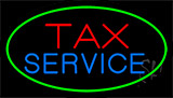 Tax Service Green Border Neon Sign