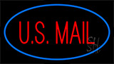 Us Mail Blue Neon Sign