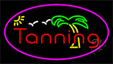 Tanning With Palm Tree Neon Sign