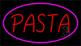 Red Pasta Pink Border LED Neon Sign