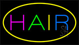 Multicolored Hair Yellow Neon Sign
