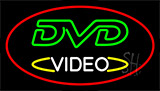 Dvd Video Red LED Neon Sign