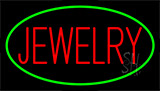 Jewelry Block Green Neon Sign