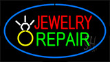 Jewelry Repair Blue Neon Sign