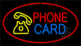 Phone Card Red Neon Sign