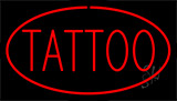 Red Tattoo Red Border LED Neon Sign