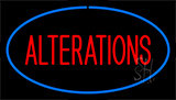 Red Alteration Blue Border Neon Sign