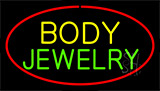 Body Jewelry Red Neon Sign
