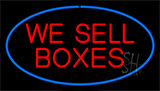 We Sell Boxes Blue Neon Sign