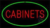 Cabinets Green LED Neon Sign