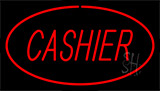 Cashier Red Neon Sign