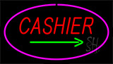 Cashier Pink Neon Sign